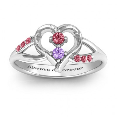 Magical Moments Two-Stone Ring - The Name Jewellery™