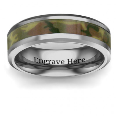 Men's Camouflage Tungsten Ring - The Name Jewellery™