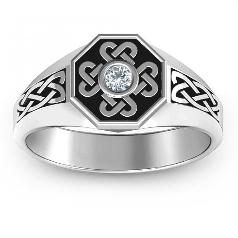 Men S Celtic Knot Signet Ring