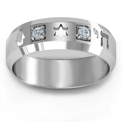 Men's Judaica Ring - The Name Jewellery™