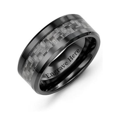 Men's Nightfall Ceramic Ring - The Name Jewellery™