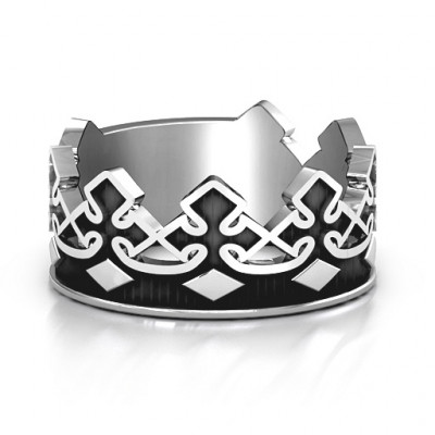 Men's Regal Crown Band - The Name Jewellery™