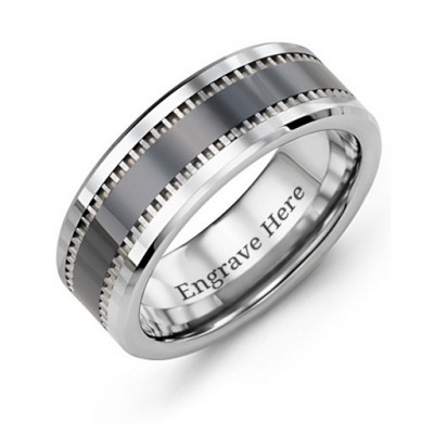 Men's Trail Tungsten Ring - The Name Jewellery™