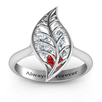 Mint to Be Cage Leaf Ring - The Name Jewellery™