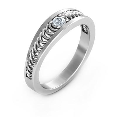 Modern Elegance Band Ring - The Name Jewellery™