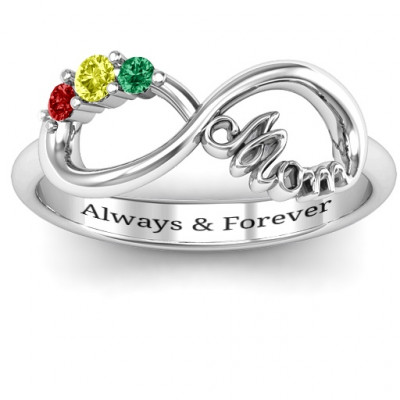 Mom's Infinite Love Ring with 2-10 Stones - The Name Jewellery™