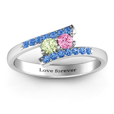 Moment We Met Two Stone Ring - The Name Jewellery™