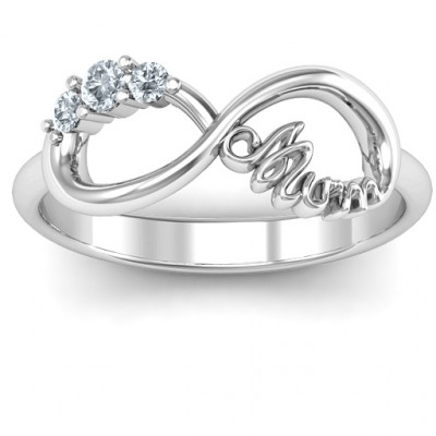 Mum's Infinite Love with Stones Ring - The Name Jewellery™