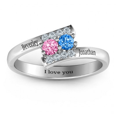 Must Be Love Two Stone Ring - The Name Jewellery™