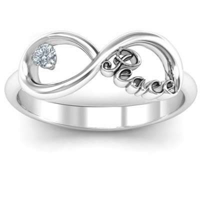 Peace Infinity Ring - The Name Jewellery™