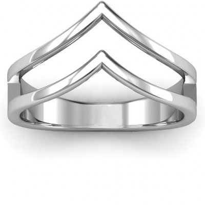 Peaks and Valleys Geometric Ring - The Name Jewellery™