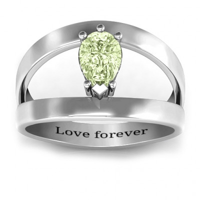 Pear With Flair Ring - The Name Jewellery™