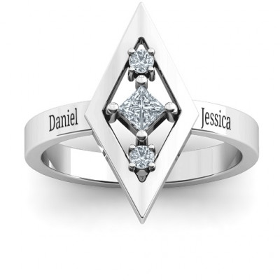 Playing with Diamonds Ring - The Name Jewellery™
