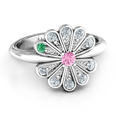 Pretty As A Peacock Ring - The Name Jewellery™