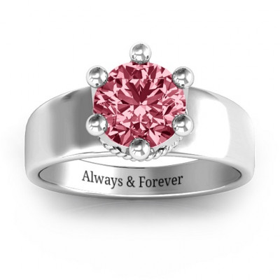 Radiant Royal Crown Ring - The Name Jewellery™