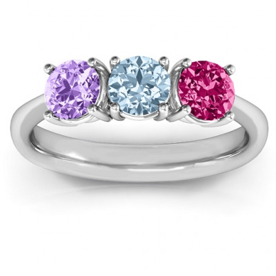 Radiant Trinity Ring - The Name Jewellery™