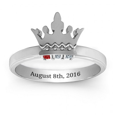 Royal Family Princess Tiara Ring - The Name Jewellery™