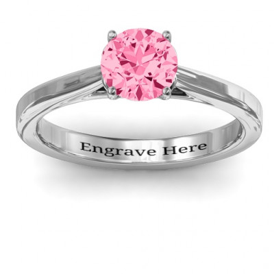 Royal Tulip Ring with Bezel Collar Stone - The Name Jewellery™