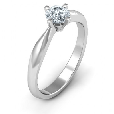 Sandra Solitaire Ring - The Name Jewellery™