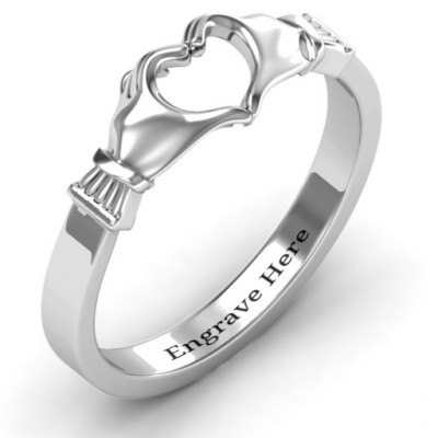 Sculpted Hand Heart Ring - The Name Jewellery™