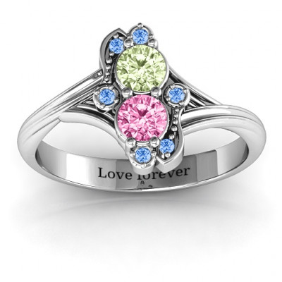 Sense of Style Two Stone Ring - The Name Jewellery™