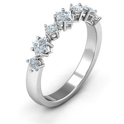Shape of her Heart Band Ring - The Name Jewellery™