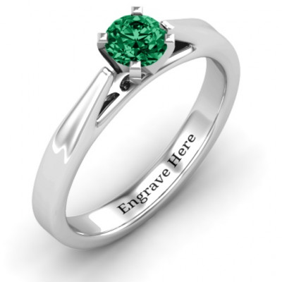Ski Tip Solitaire Ring - The Name Jewellery™