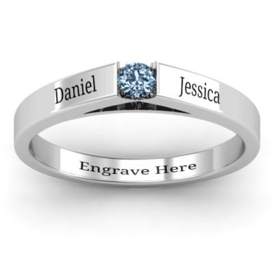 Solitaire Bridge Ring - The Name Jewellery™