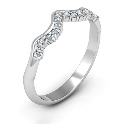 Solitaire Infinity Shadow Band - The Name Jewellery™