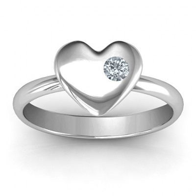 Soulmate's Heart Ring - The Name Jewellery™