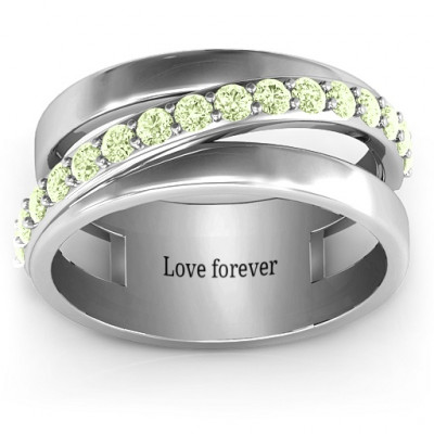 Sparkling Sash Ring - The Name Jewellery™