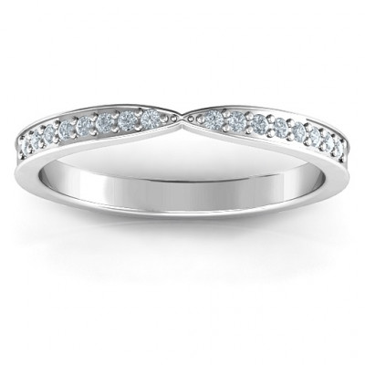 Sparkling Skitip Band - The Name Jewellery™