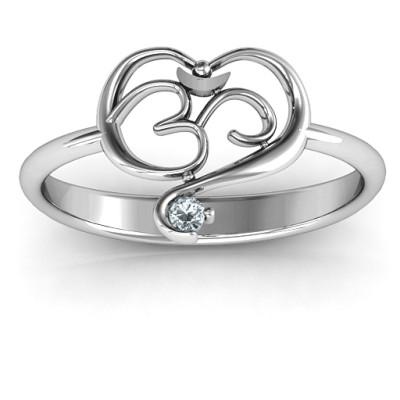 Spiritual Heart Om Ring - The Name Jewellery™