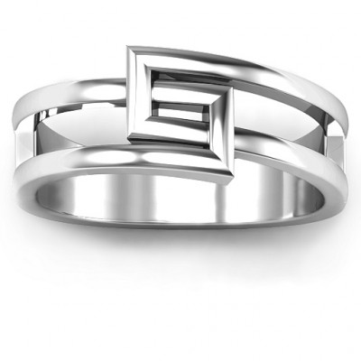 Square on Square Geometric Ring - The Name Jewellery™