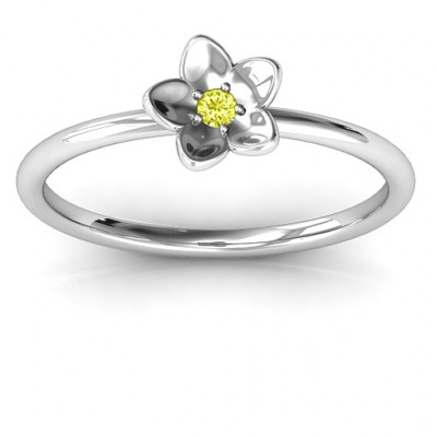 Stackr 'Azelie' Flower Ring - The Name Jewellery™