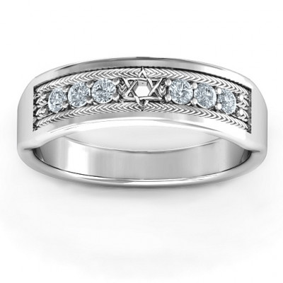 Star of David Band Ring - The Name Jewellery™