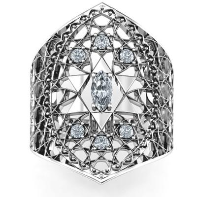 Star of David Lattice Ring - The Name Jewellery™