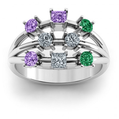 Sterling Silver  Cosmic Energy  Ring - The Name Jewellery™