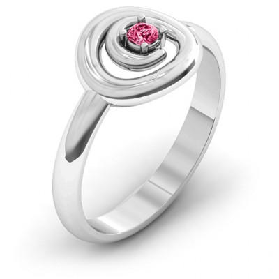Sterling Silver  Swirling Desire  Ring - The Name Jewellery™