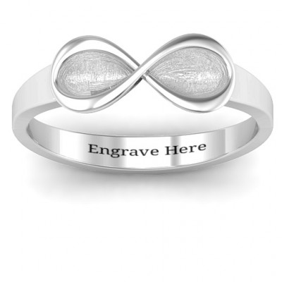Sterling Silver  Vogue  Infinity Ring - The Name Jewellery™