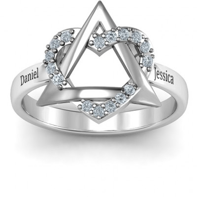 Sterling Silver Adoption Ring - The Name Jewellery™