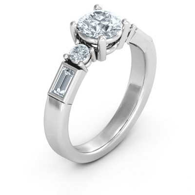 Sterling Silver Andrea Engagement Ring - The Name Jewellery™