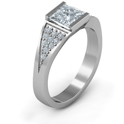Sterling Silver Bold Love Ring - The Name Jewellery™