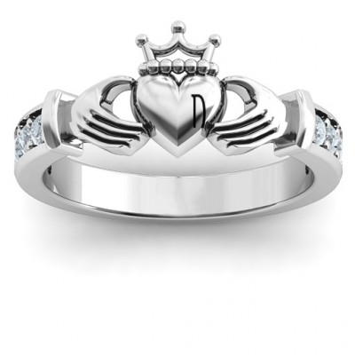 Sterling Silver Classic Claddagh Ring with Accents - The Name Jewellery™
