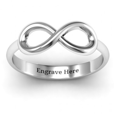 Sterling Silver Classic Infinity Ring - The Name Jewellery™