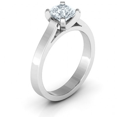 Sterling Silver Classic Solitaire Ring - The Name Jewellery™