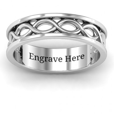 Sterling Silver Diadem Infinity Women's Ring - The Name Jewellery™