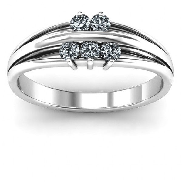 Sterling Silver Everlasting Bonds Ring - The Name Jewellery™