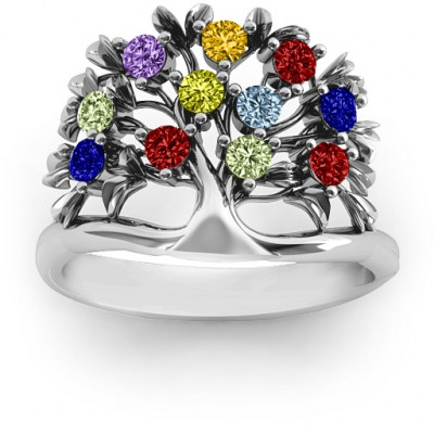 Sterling Silver Family Tree Ring - The Name Jewellery™
