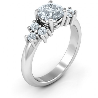 Sterling Silver Flourish Engagement Ring - The Name Jewellery™